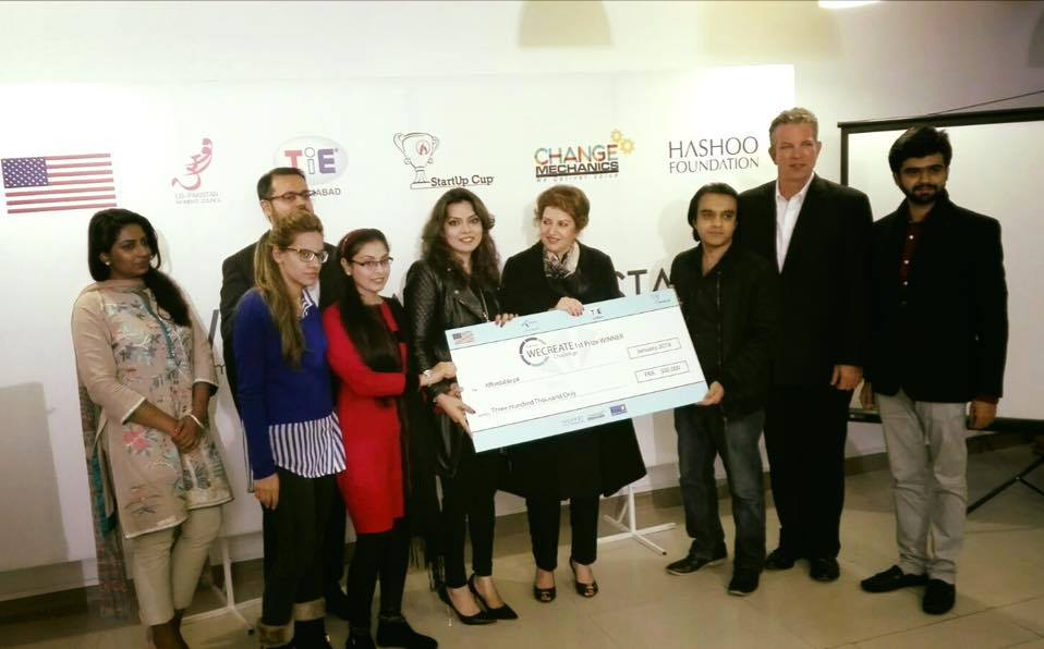 Winner - Wecreate Challenge Cup for Women Entrepreneurship 2015