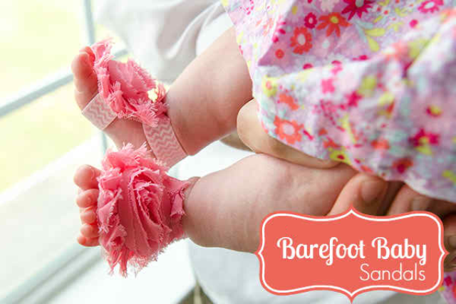 Striking Baby Barefoot Sandals