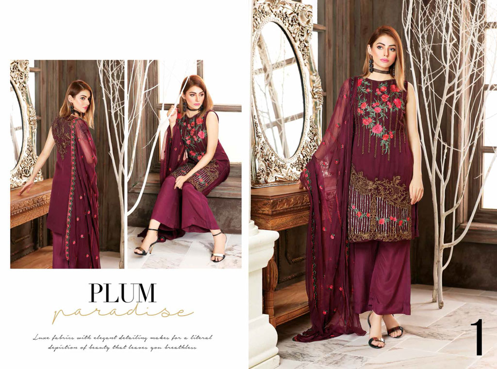 Sanam Saeed Luxury Chiffon Collection - The Perfect Choice for Party and Wedding Wear!