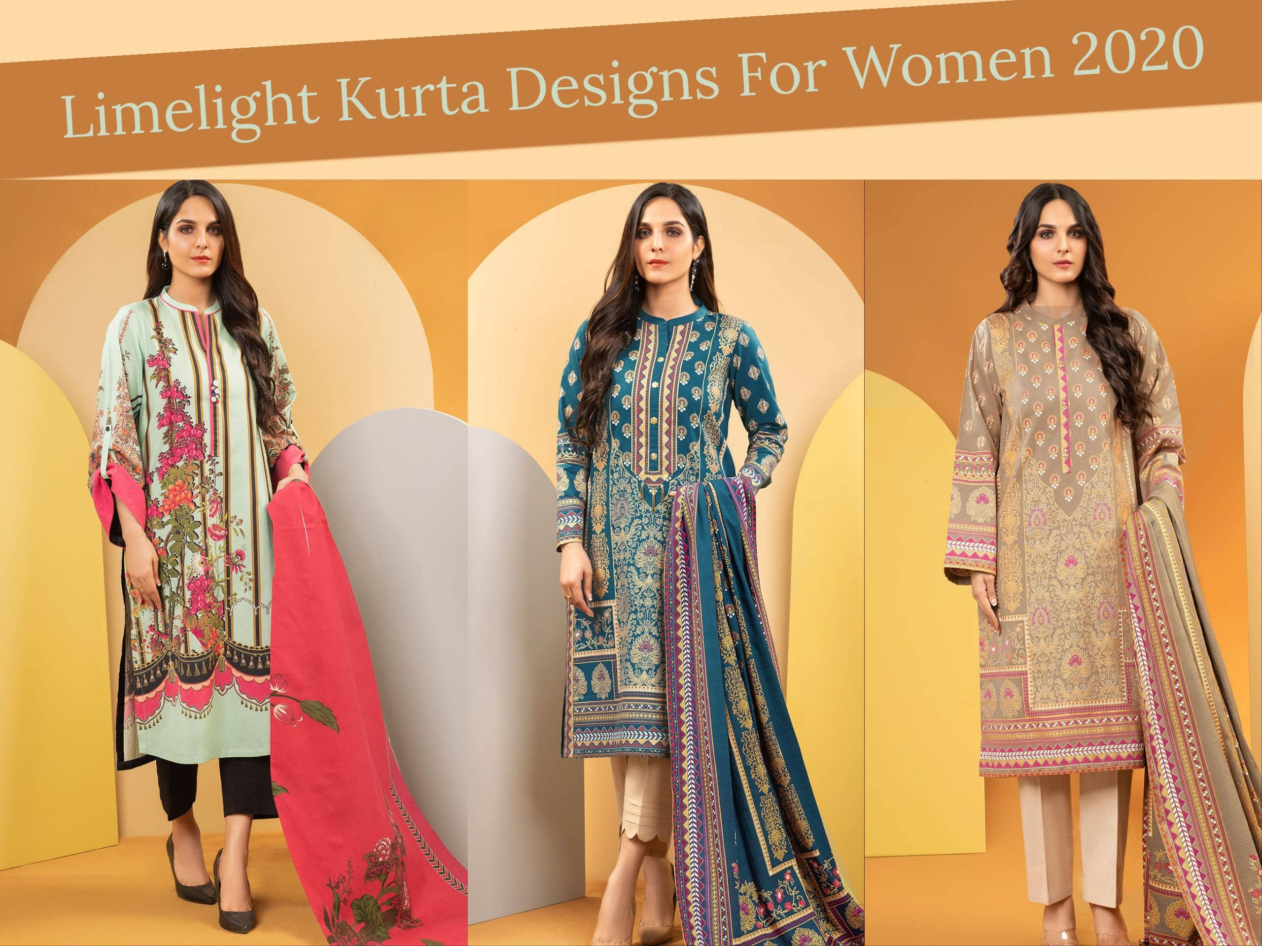 Limelight Unstitched Kurta Designs For Women In 2020