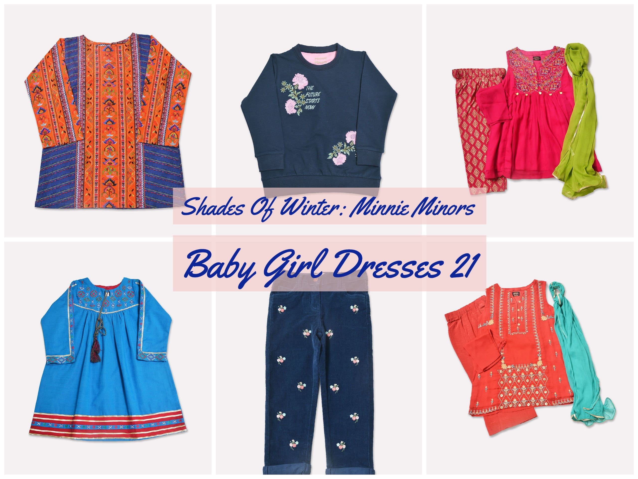 Shades Of Winter: Minnie Minors Baby Girl Dresses 21