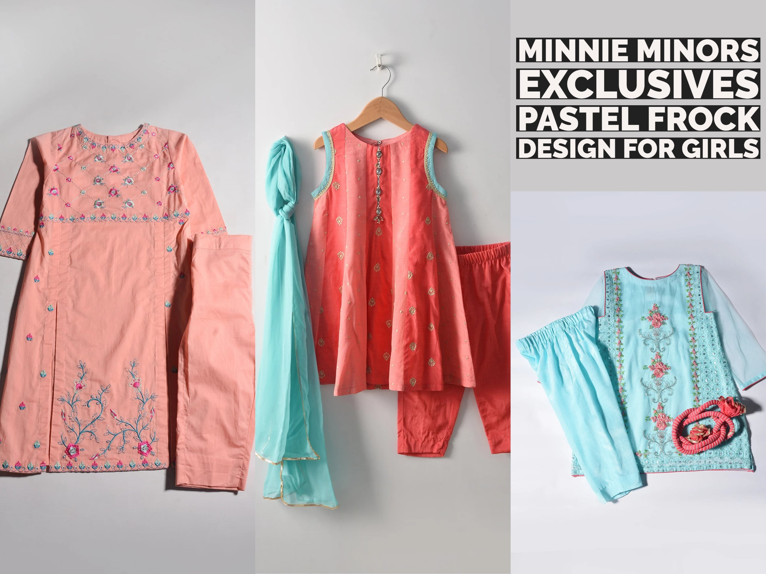 Minnie Minors Exclusives: Pastel Frock Design For Girls