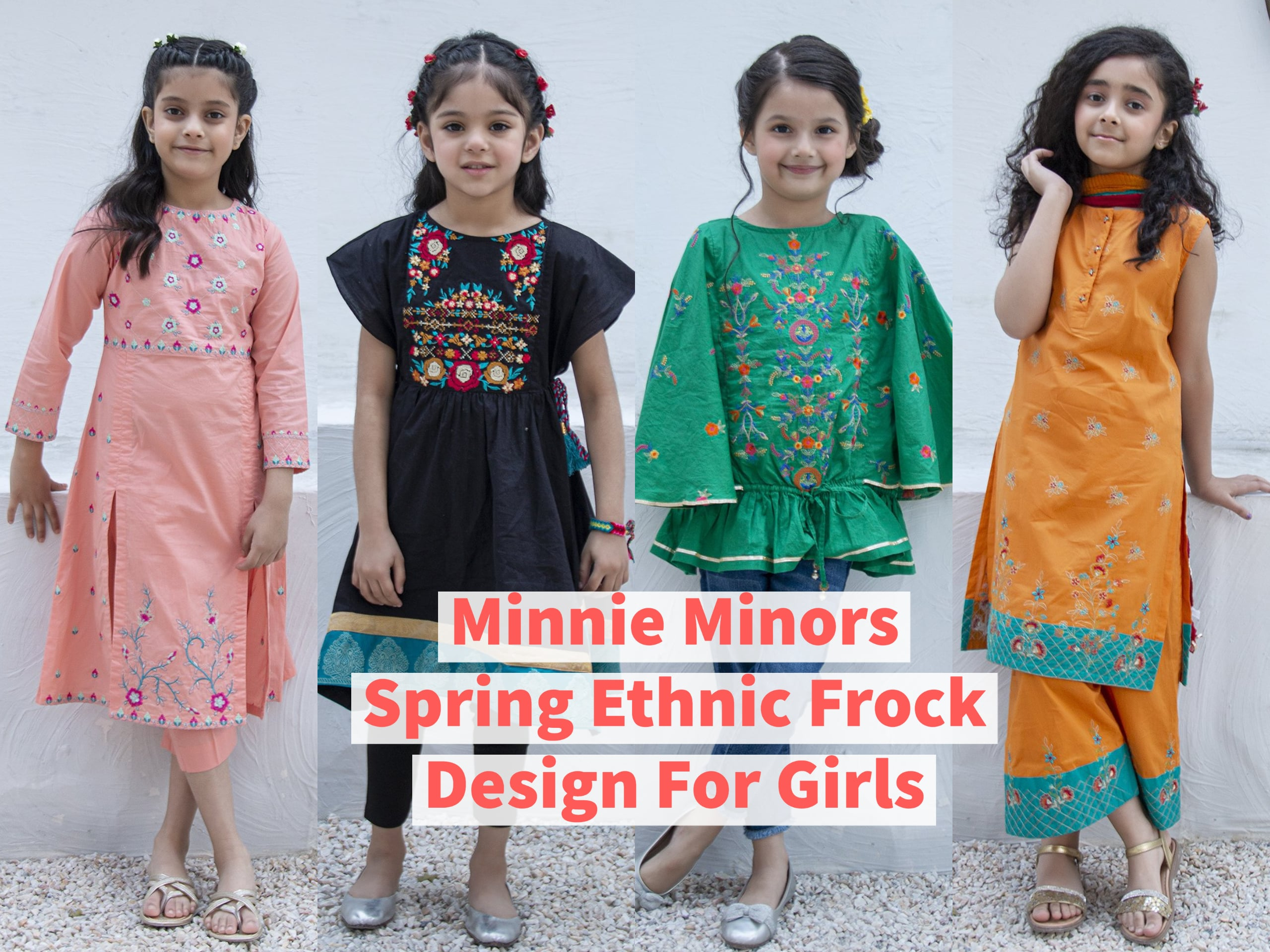 Minnie Minors Spring Ethnic Frock Design For Girls