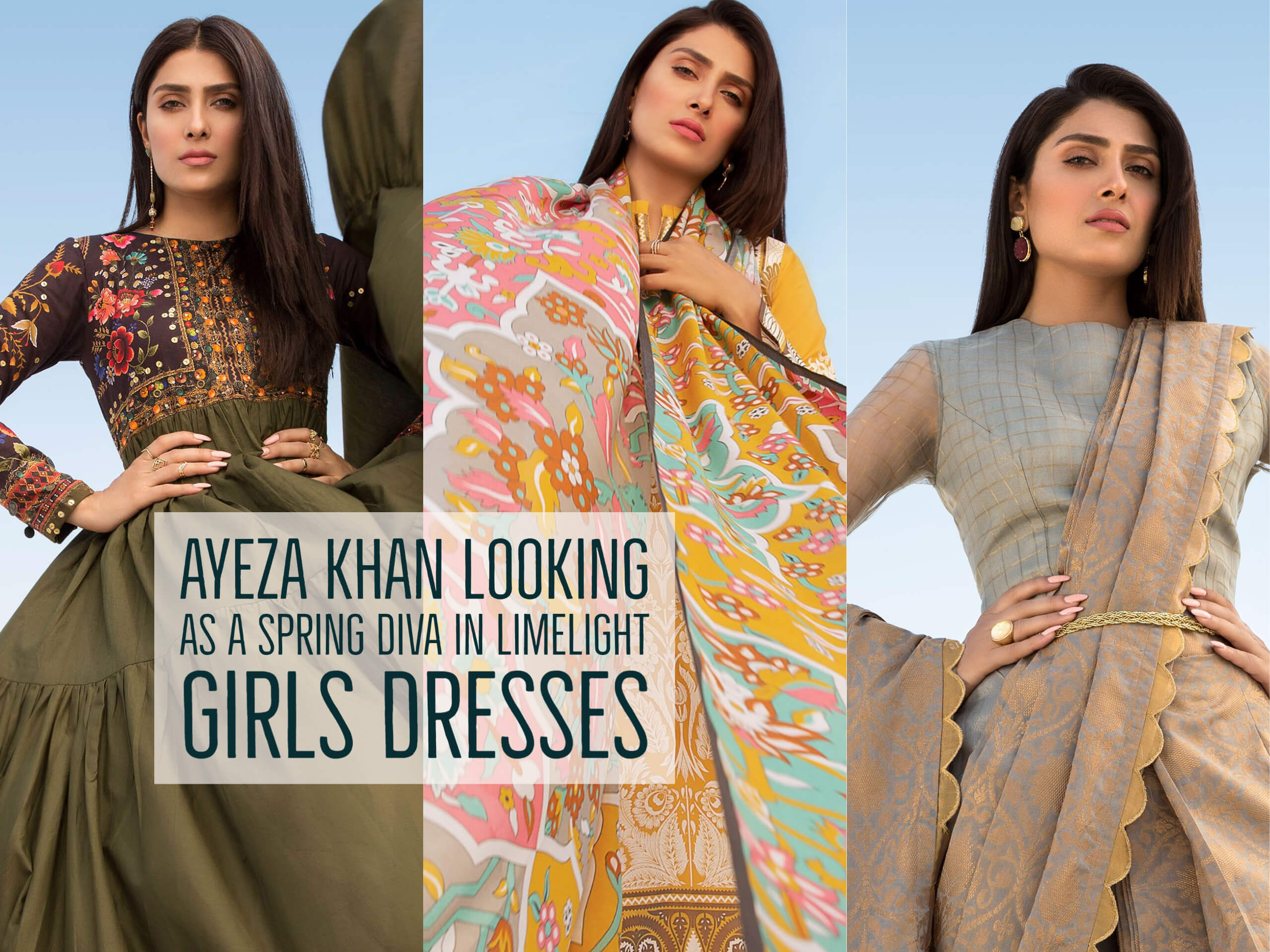Ayeza Khan Looking As A Spring Diva In Limelight Girls Dresses