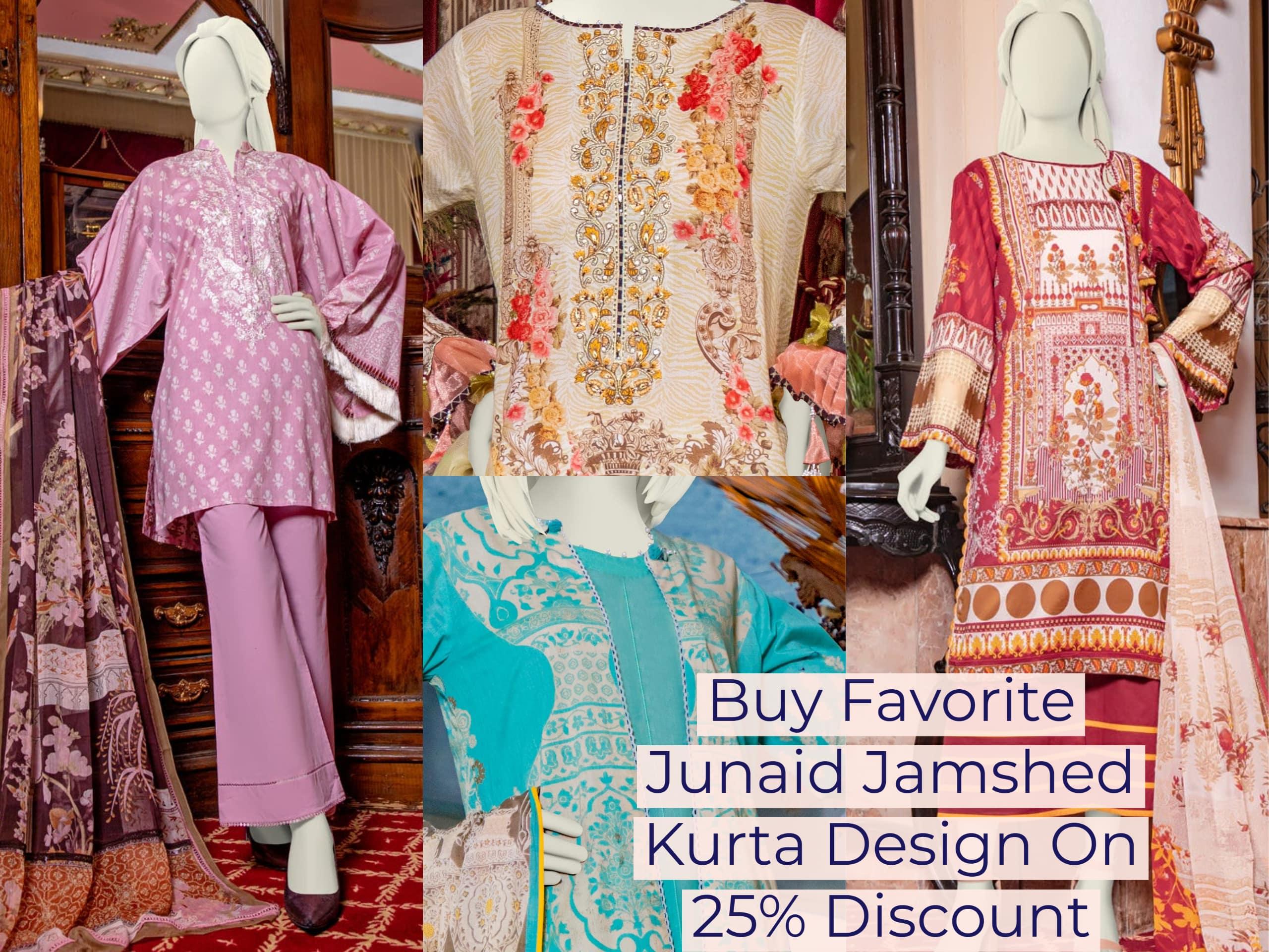 Buy Favorite Junaid Jamshed Kurta Design On 25 Percent Discount