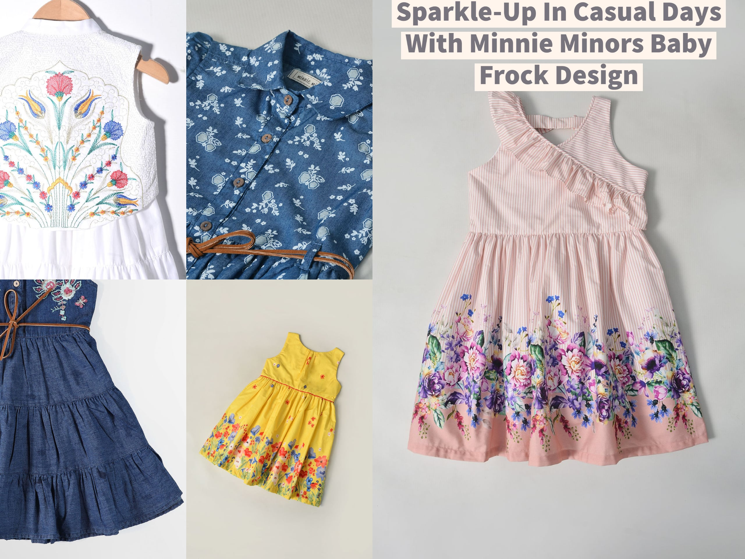 Sparkle-Up In Casual Days With Minnie Minors Baby Frock Design