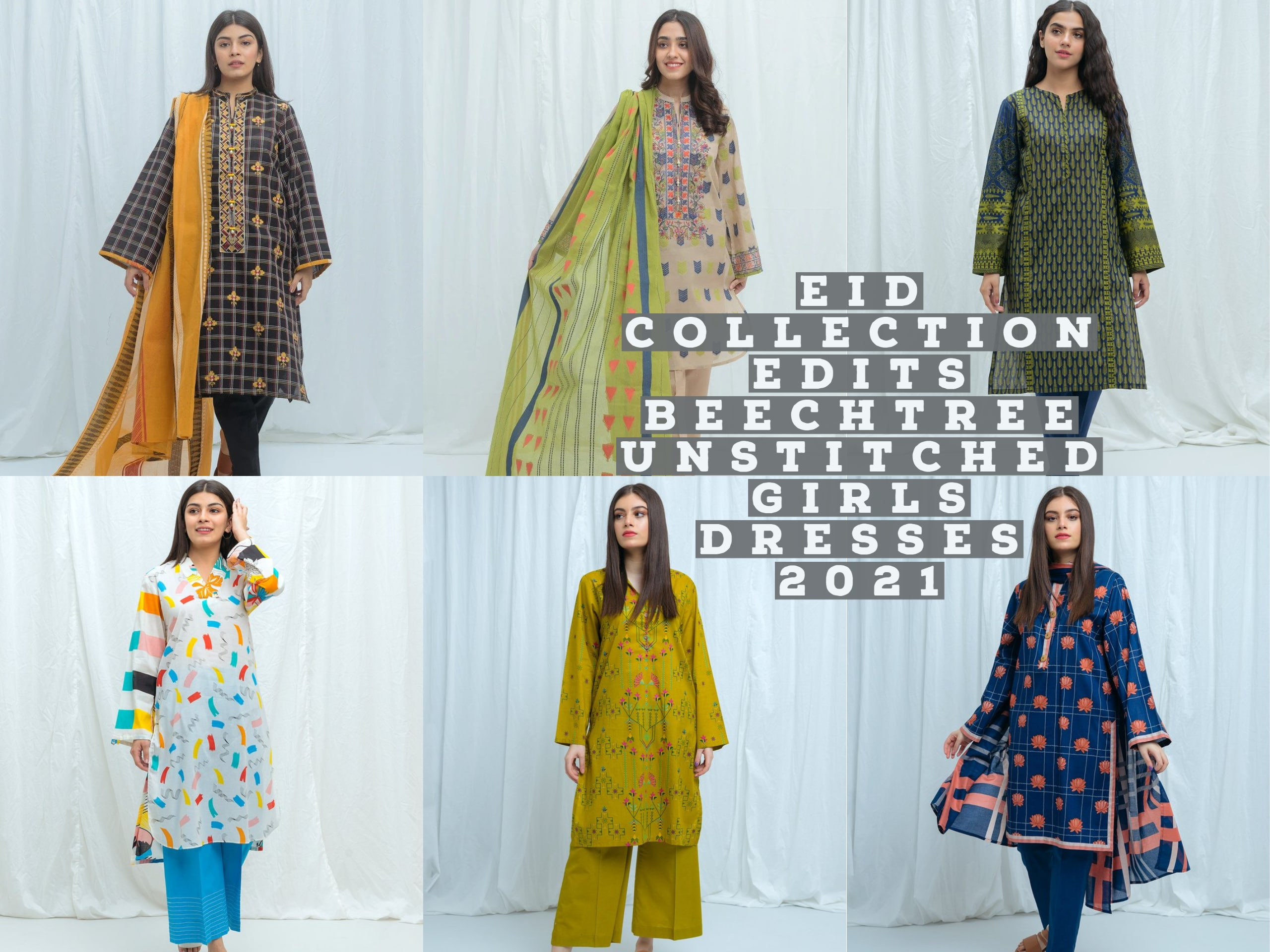 Eid Collection Edits: Beechtree Unstitched Girls Dresses 2021