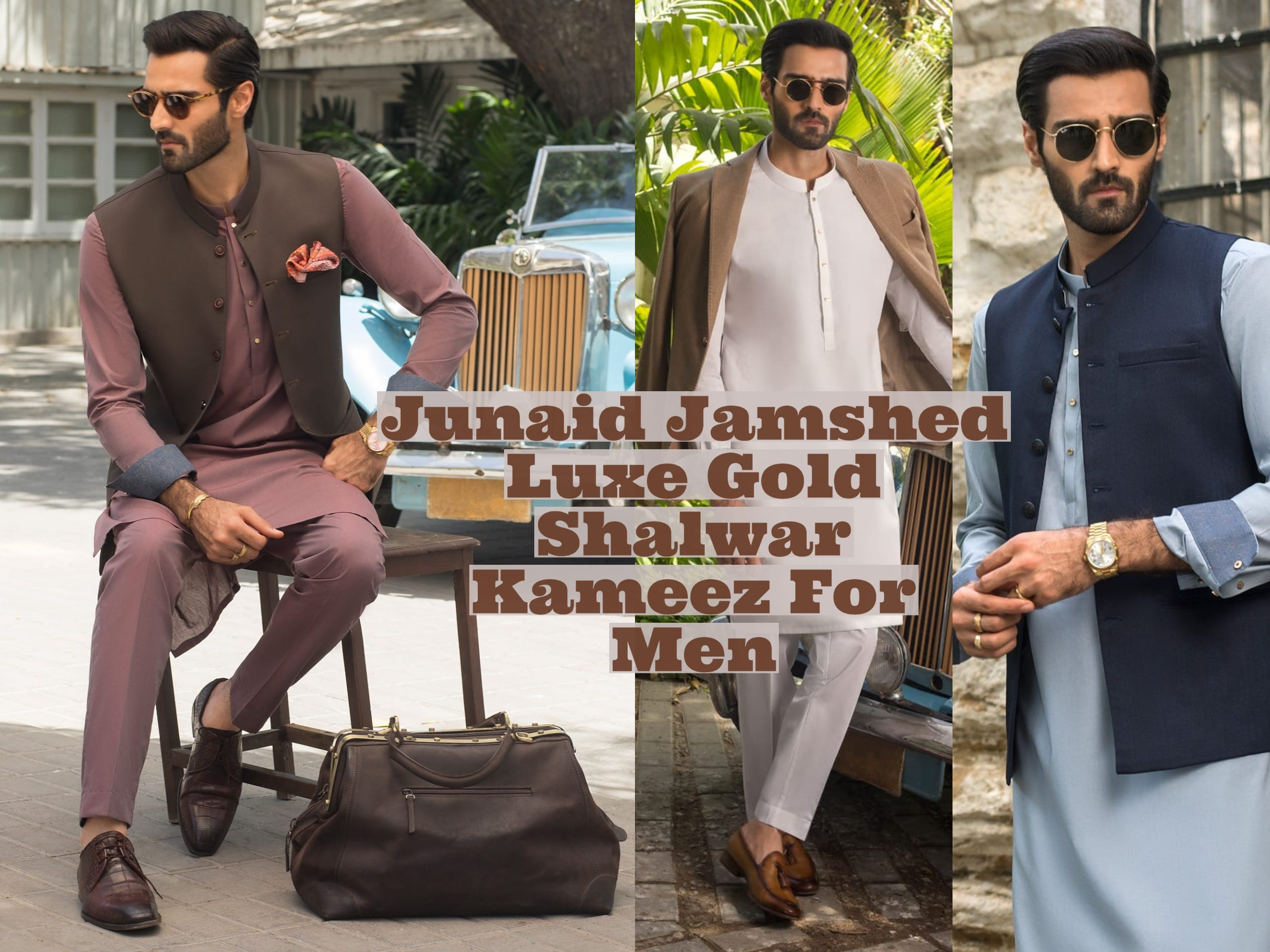 Junaid Jamshed Luxe Gold Shalwar Kameez For Men