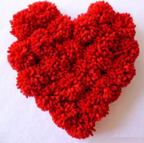 Pom Poms Heart