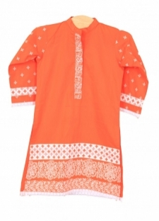 Mushrooms Orange Kurta
