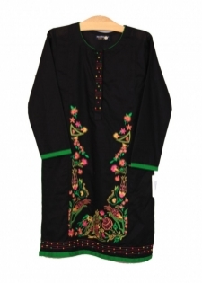 Mushrooms Black Karandi Kurta
