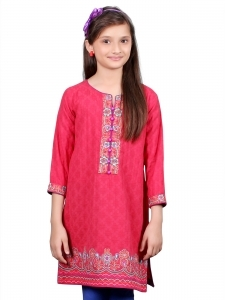 Red embroidered Kurta for Eid
