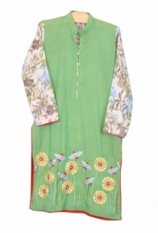 Mushrooms Lime Green Kurta