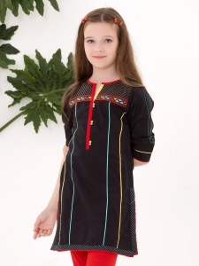 Black Color Kurti for Eid
