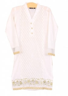 Mushrooms White Karandi Kurta