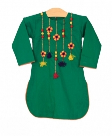 Mushrooms Green Kurta