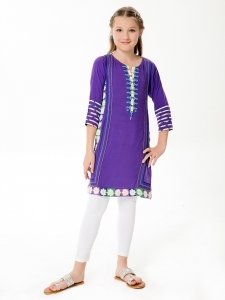 Purple Kurta for Eid