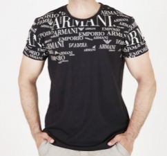 Half Sleeves Men Tee-Black T-Shirt with logo
