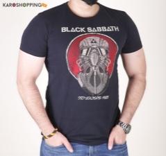 Half Sleeves Men Tee-Black T-Shirt Black Sabbath