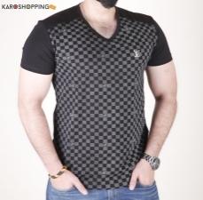 Half Sleeves Men Tee-Check T-Shirt