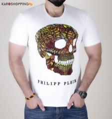 Half Sleeves Men Tee-Monster Logo T-Shirt Philipp plein
