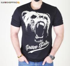 Half Sleeves Men Tee-Bear Logo T-Shirt Philipp Plein
