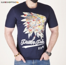 Blue cotton 'Philipp Red Indian' T-shirt from Philipp Plein