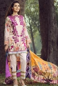 Saffron Lawn Embroidery Suit-2A