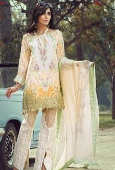 Saffron Lawn Embroidered Suit-4A