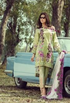 Saffron  Lawn Embroidered Suit-7A