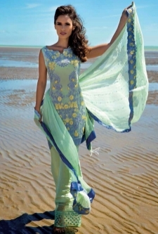Luxury Chiffon  Embroidered Suit 10
