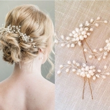 15015094420_Affordable_Wedding_Bridal_Pearl_Flower_Leaves_Crystal_Hair_Pins_Clips_1.jpg