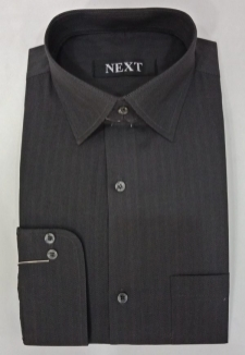 15523862000_Dark_Grey_Herringbone_Cotton_Formal_Shirt_Men_Double_Needle_Stitching.jpg