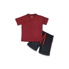 16233249810_AllureP_Maroon_Plain_Black_Shorts.jpg