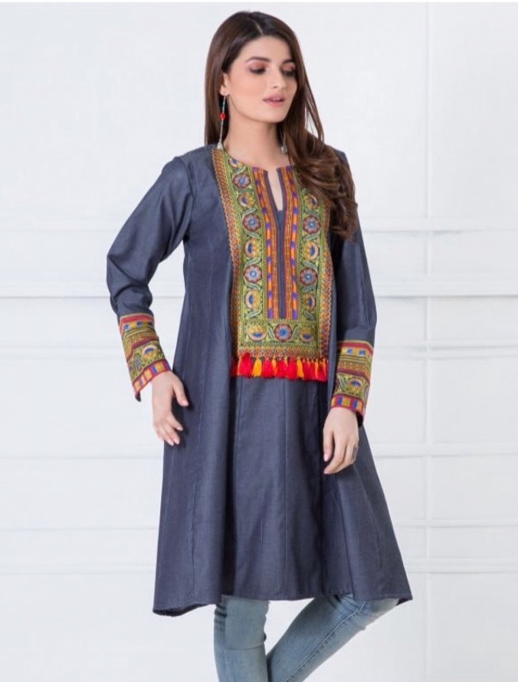 Buy Khaadi Denim Kurti in Pakistan | Affordable.pk