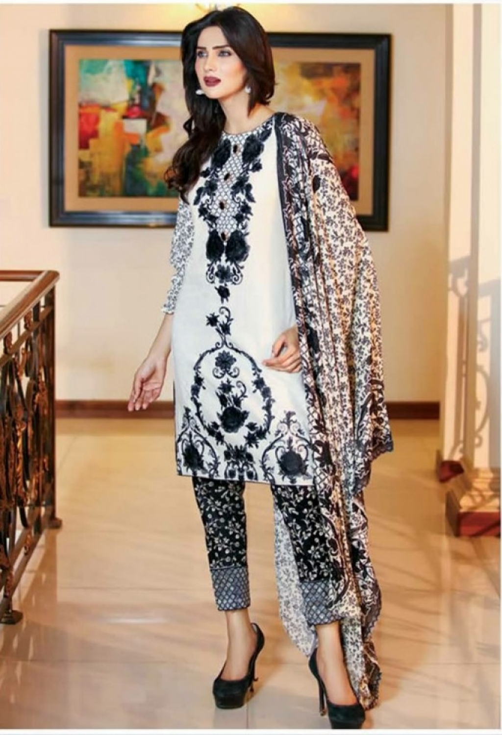 f7462a8255 Buy Sanam Saeed Luxury Lawn Collection 2017 Design-08 in Pakistan ...