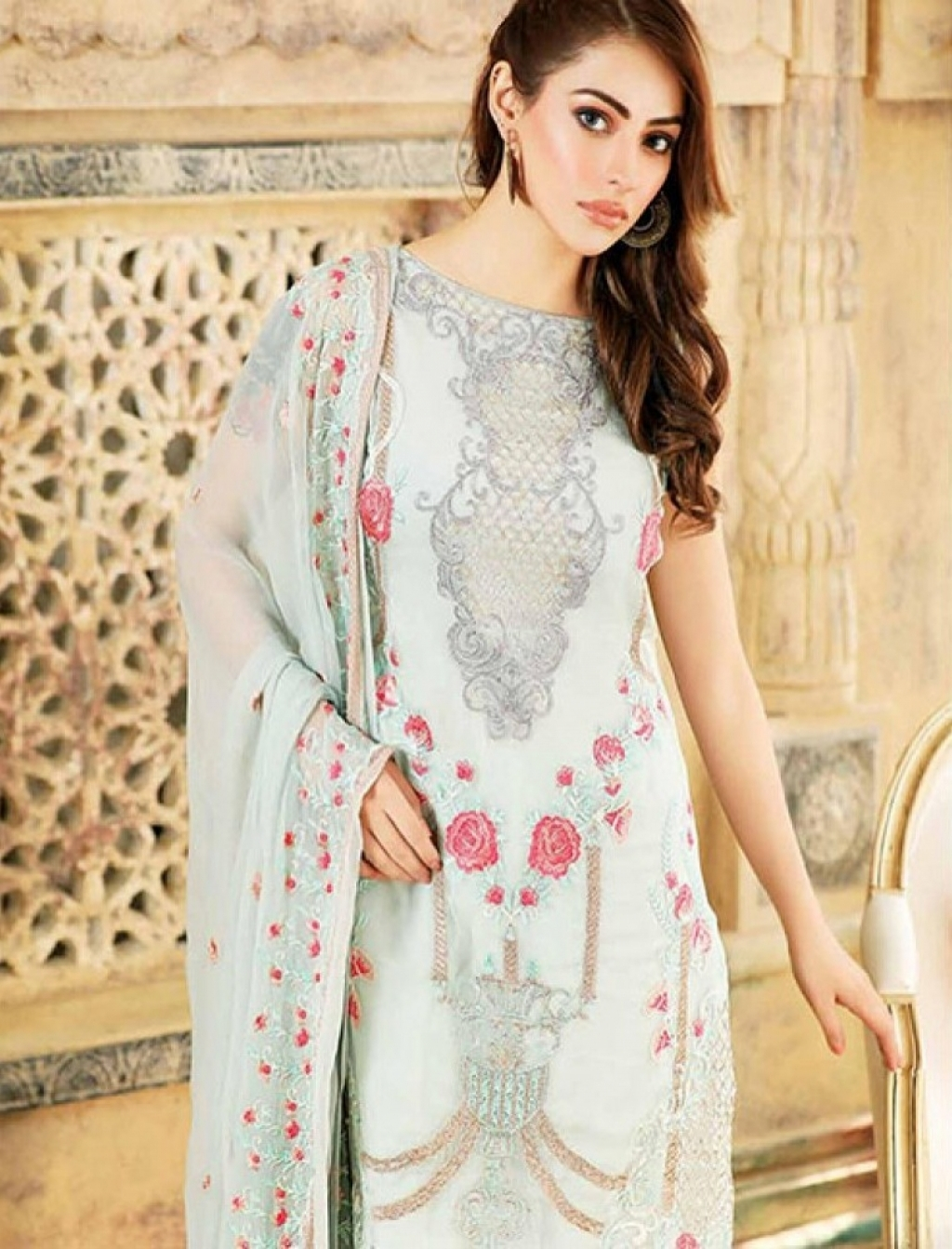 00a3d93667 Buy Sanam Saeed Luxury Chiffon Collection 2017 Vol 2 Design 05 in ...
