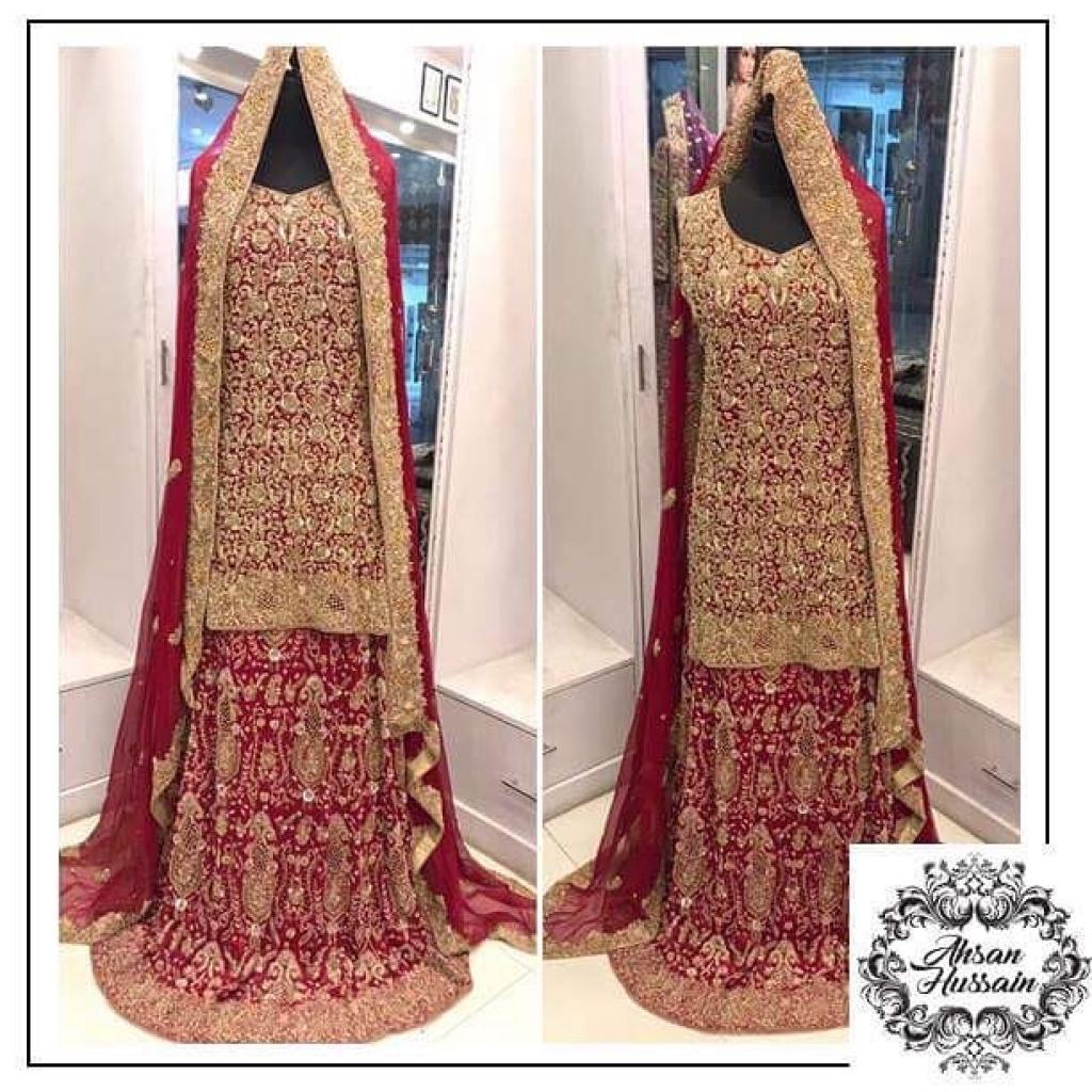 Wear Bridal frocks lehenga by ahsan hussain best photo