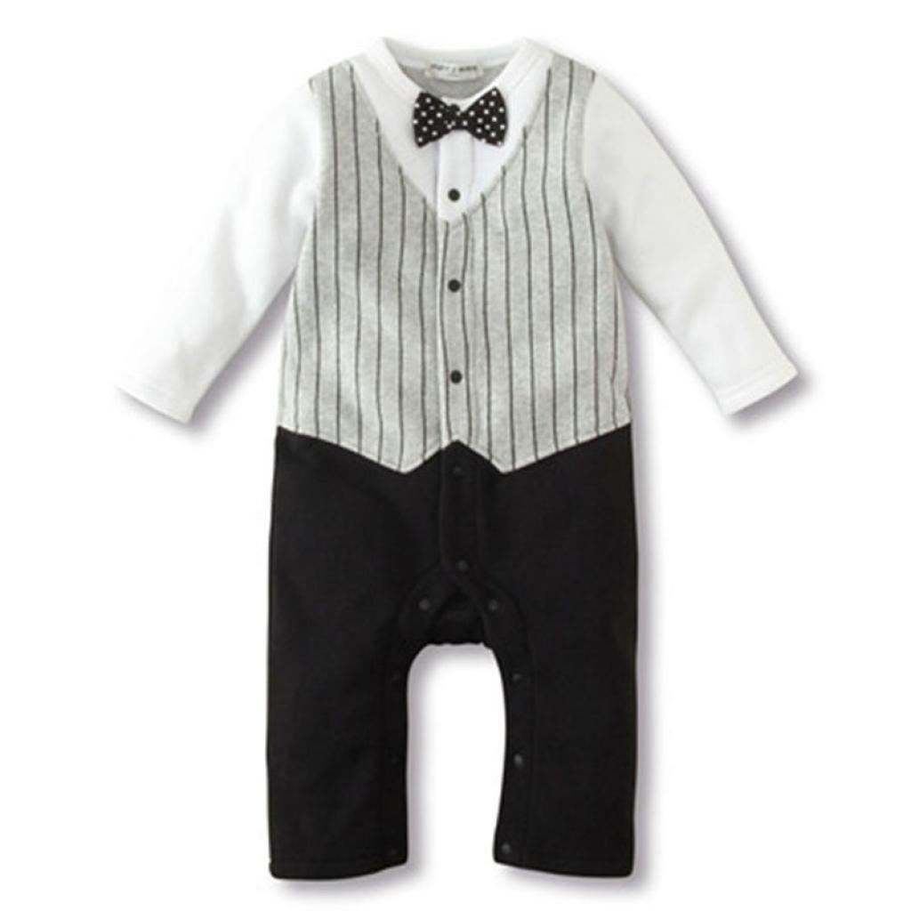 1c8a1a0ce Buy Baby Boy Wedding Formal Party Bow Tie Tuxedo Suit Romper in ...