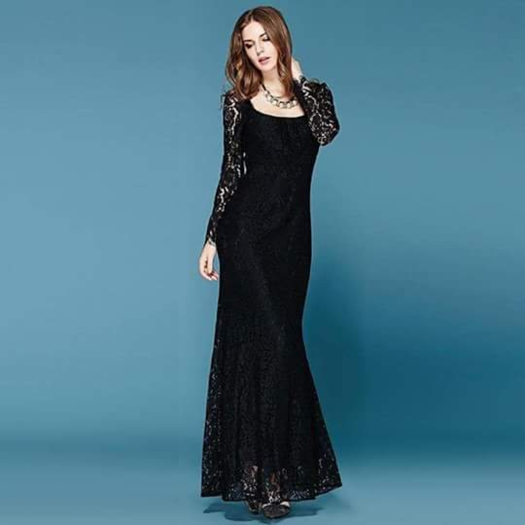 Black Net Maxi For Her