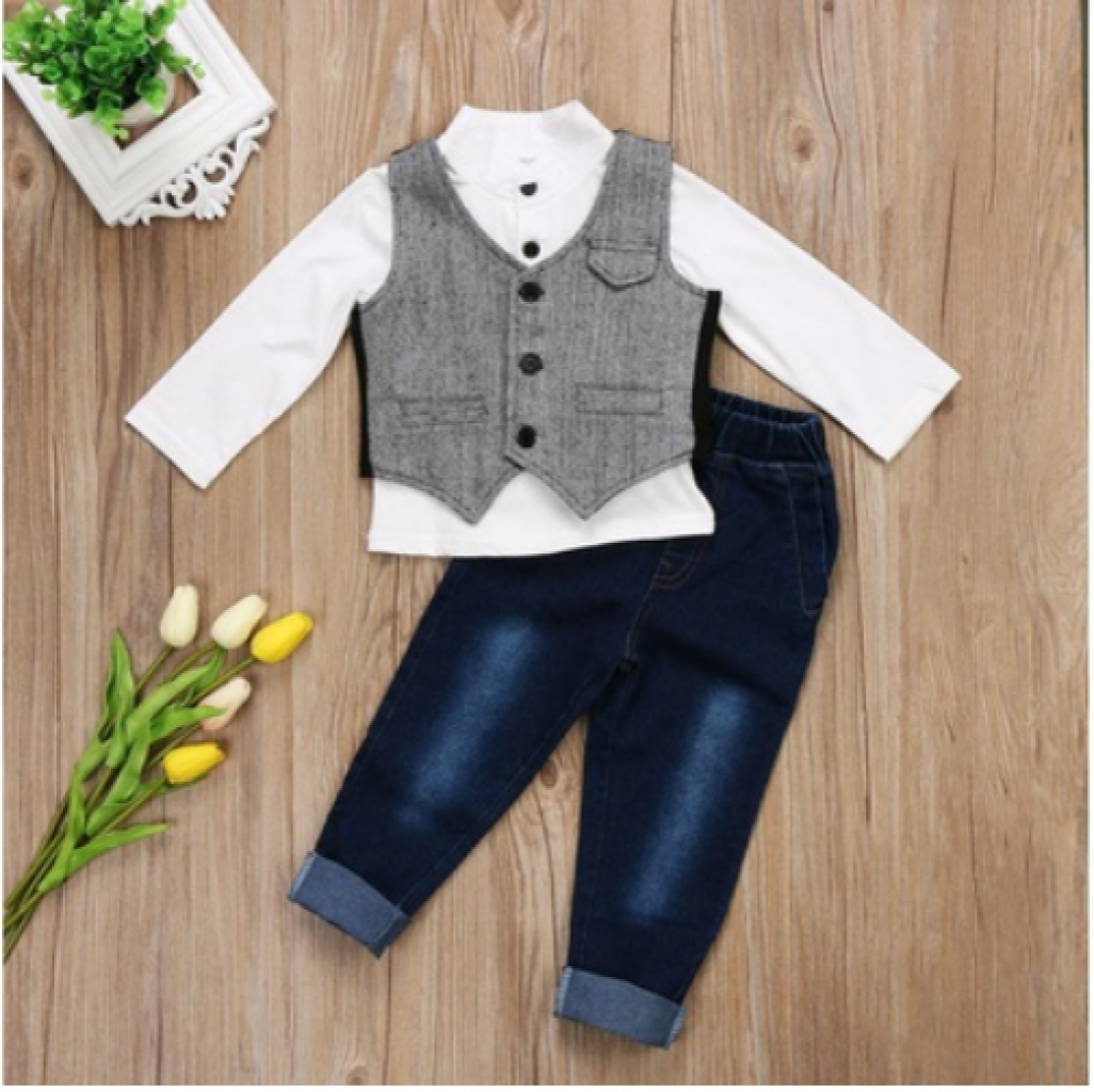51f342532652a Buy New 2pcs Set Toddler Baby Boys Gentleman Formal Suit Waistcoat ...