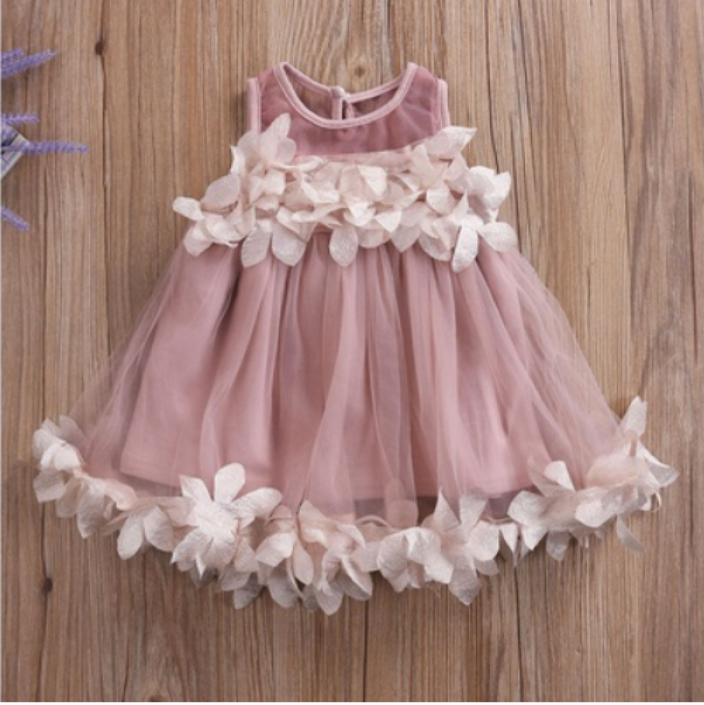 50ac26f1ab51 Buy Princess Baby Girls Dress Summer Sleeveless Floral Tutu Ball ...