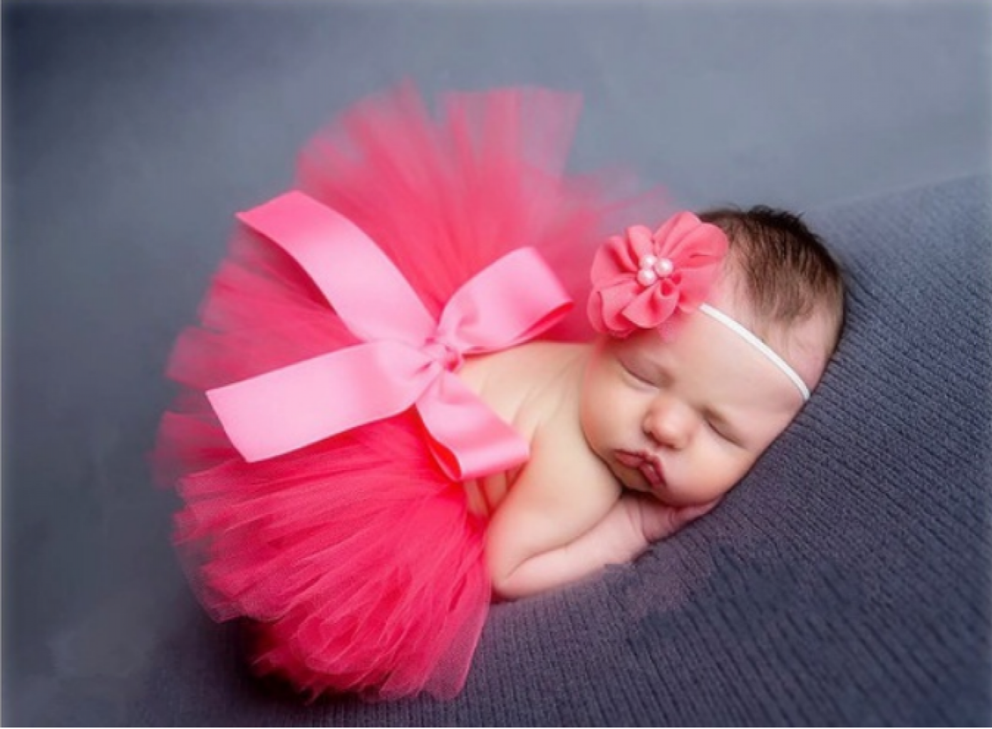 Infant Baby Girls New-born Flower Headband Dress Costume Set Photo prop Outfits
