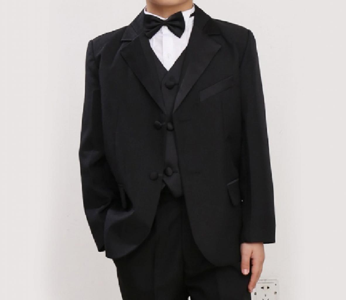 5 Pcs Infant Toddler Boy Formal Children Tuxedo Wedding Party Suit Black In Stan Affordable Pk