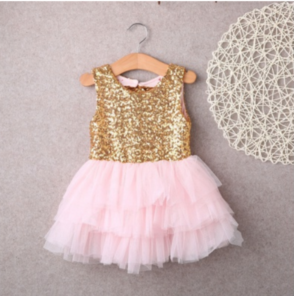 8bf282874 Buy Baby Girl Sequins Dress Bow Lace Tulle Tutu Cake Dress in ...