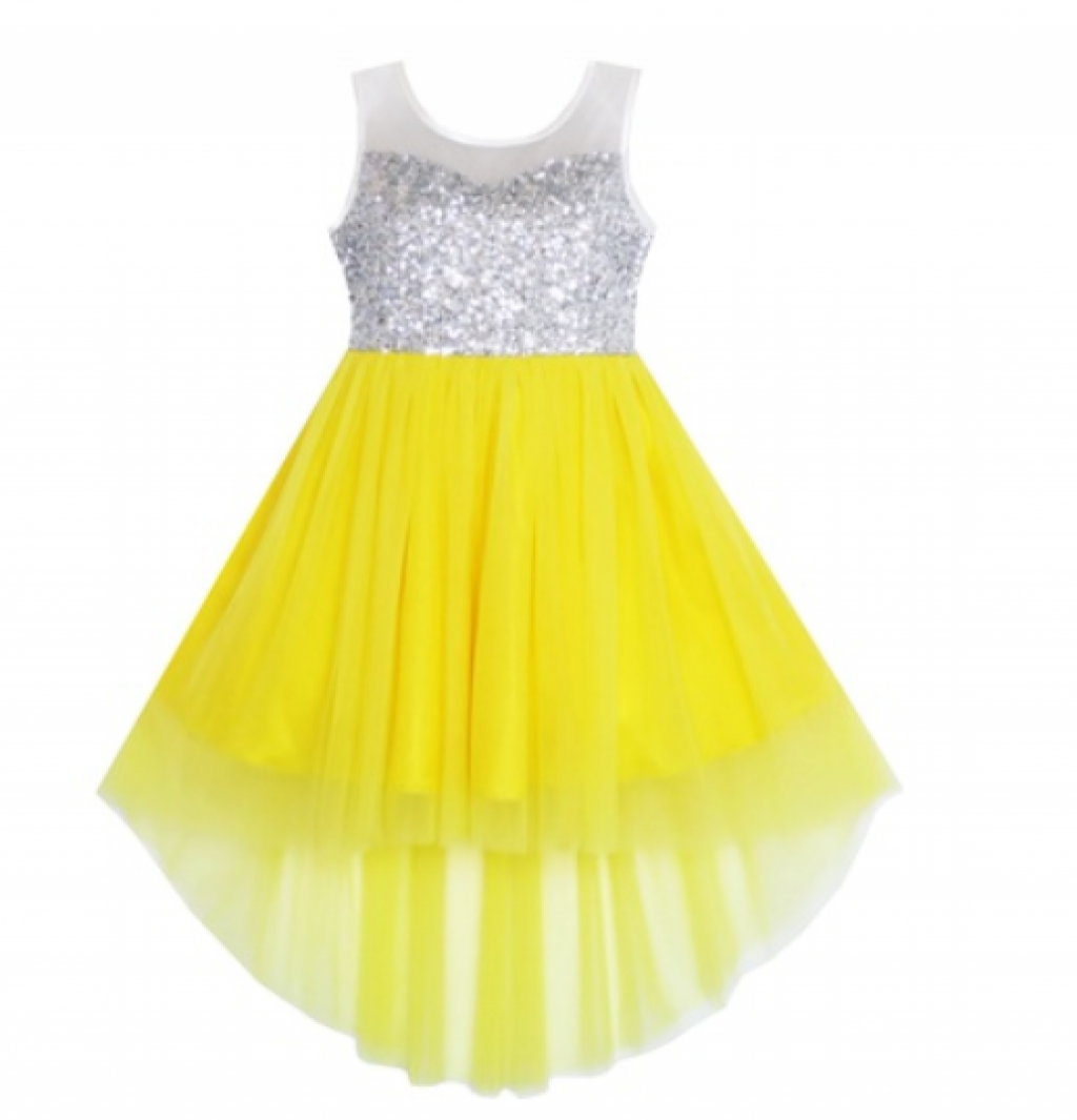 9e06a2c4 Buy Sunny Fashion Girls Dress Sequin Mesh Party Princess Tulle in ...