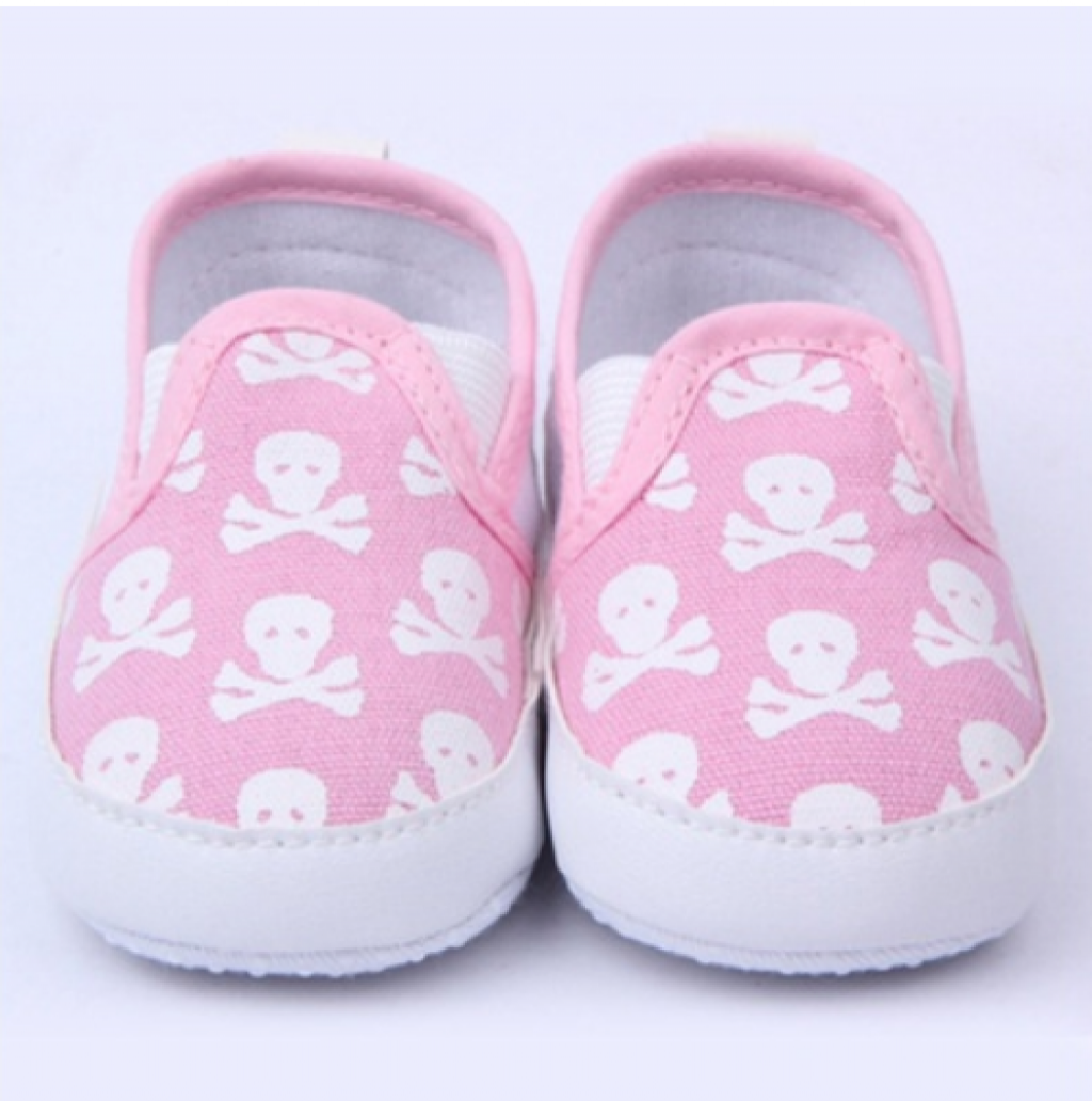 037e351da9dd Buy Skull Anti-slip Baby Toddler Canvas Crib Shoes Boy Girl ...
