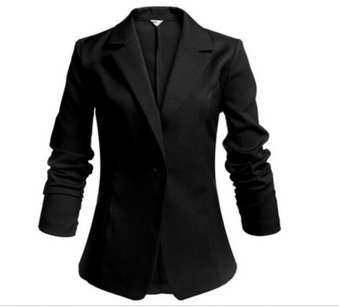 Buy Women One Button Slim Casual Office Coat Blazer in ...