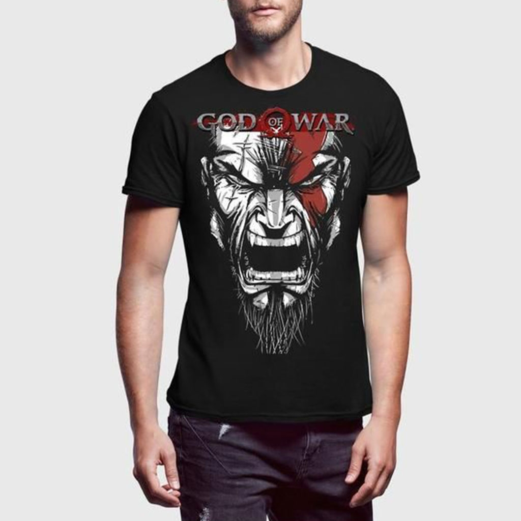new product c02ae 8dc0a God Of War Black T-Shirt