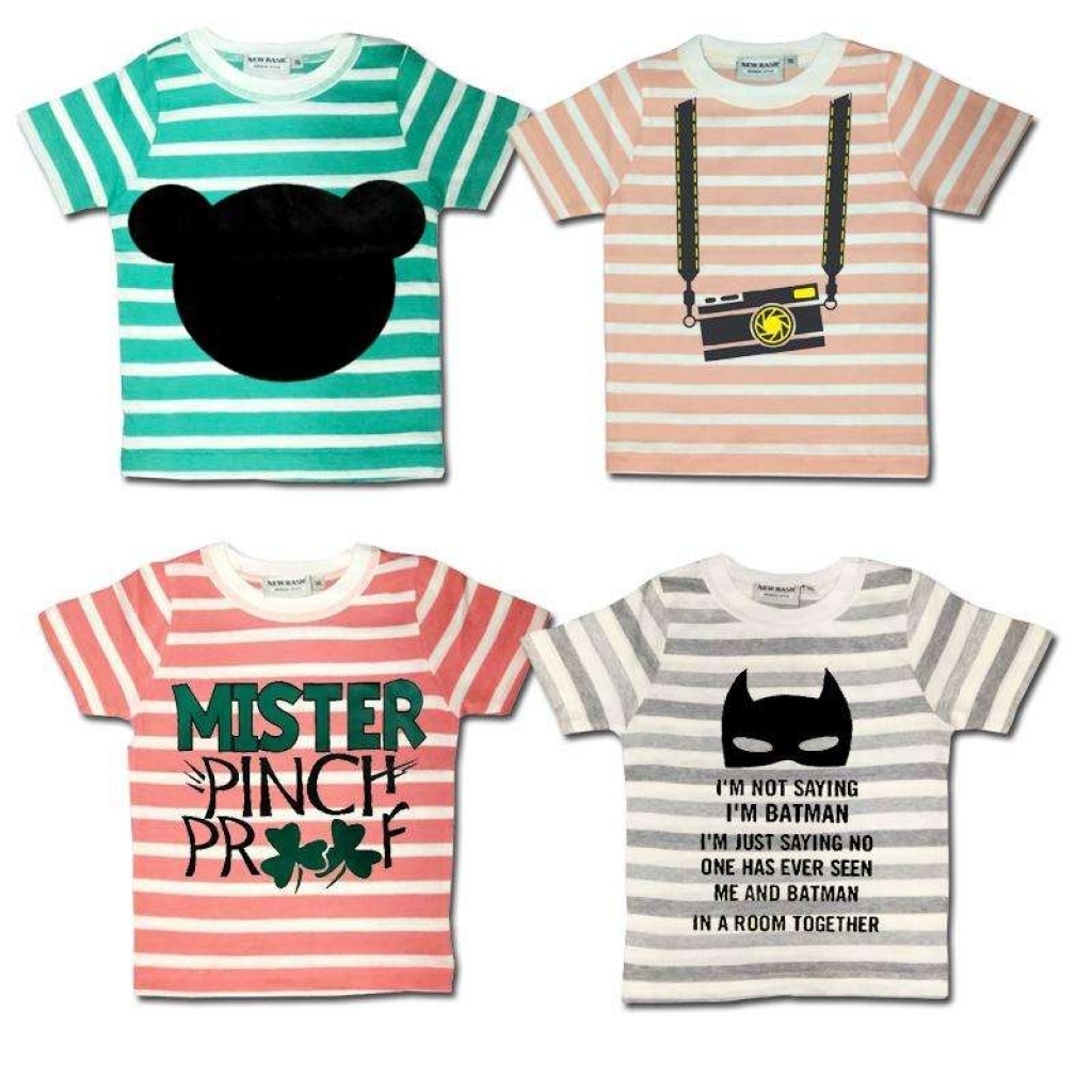 4ba5b79ef0303 Buy Pack Of 4 Printed Multicolor Export Quality Tshirts For Kids in ...
